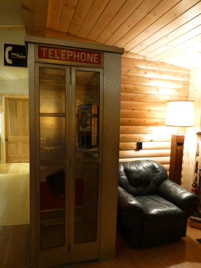 1950's Phone Booth... Lois called.  Tell Clark he's late for dinner.